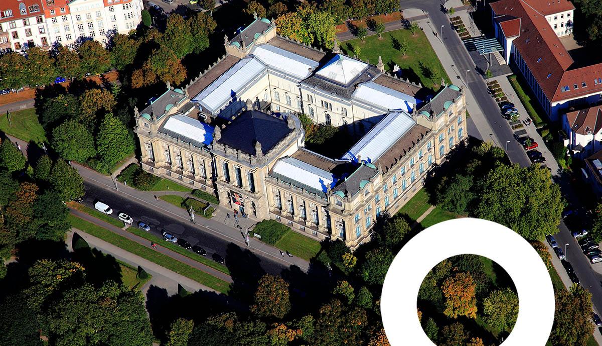 Landesmuseum Hannover Luftaufnahme